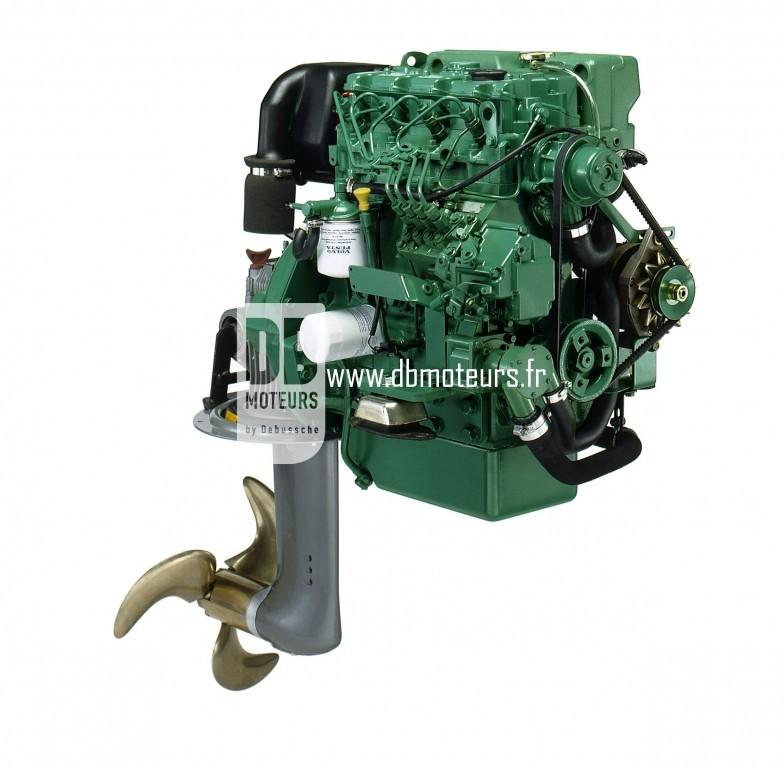 moteur volvo penta d2-55 avec embase