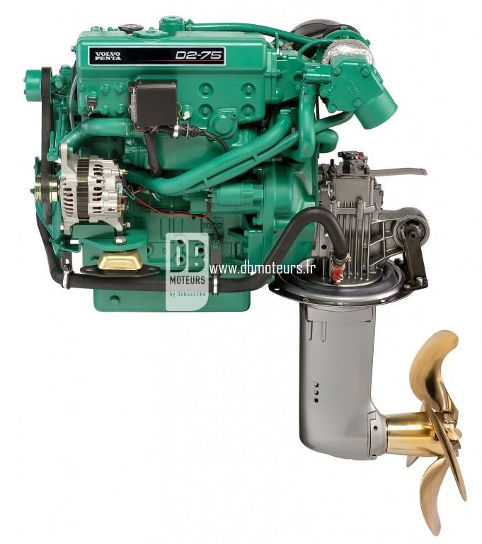 moteur volvo penta D2-75 avec saildrive