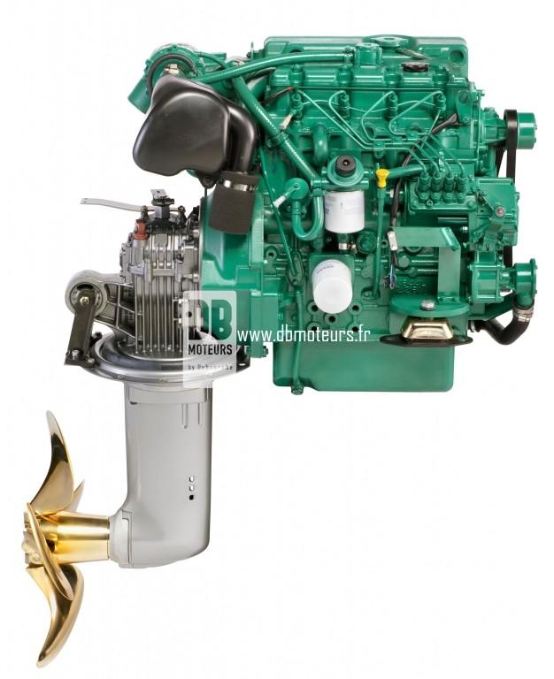 moteur marin volvo penta d2-75 avec saildrive2