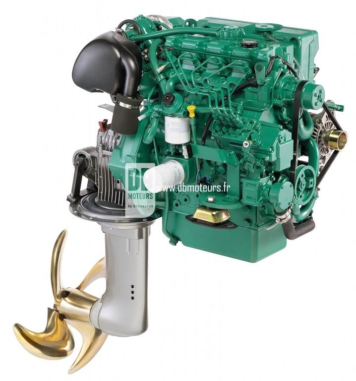 moteur marin volvo penta d2-75 avec saildrive3