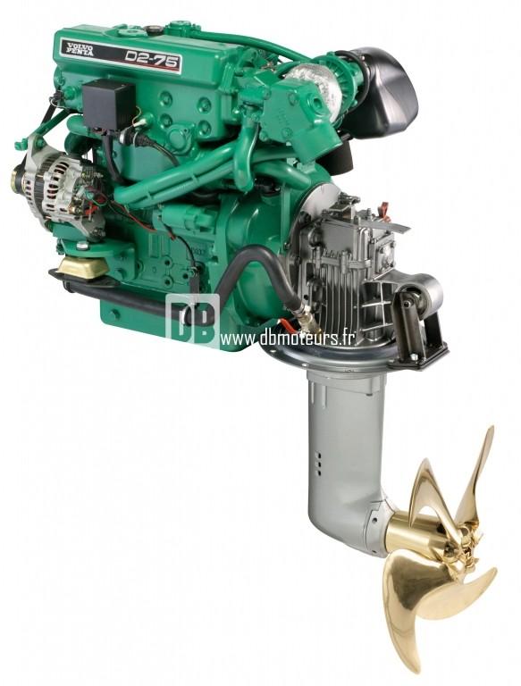 moteur marin volvo penta d2-75 avec saildrive4