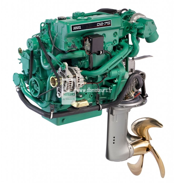 moteur marin volvo penta d2-75 avec saildrive5