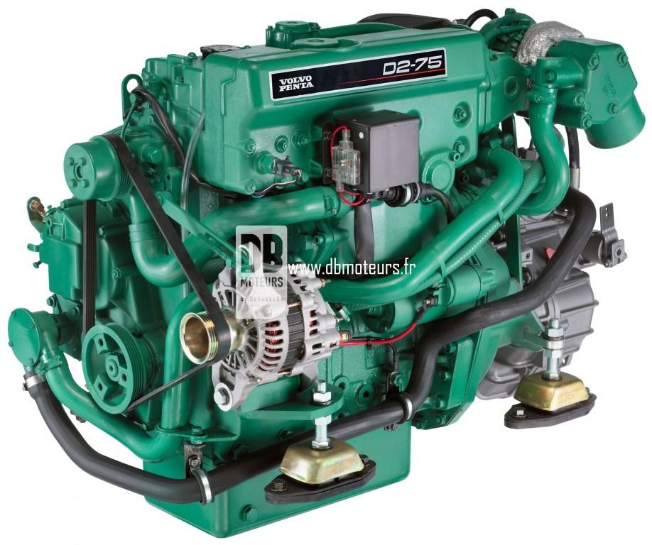 moteur marin volvo penta d2-75 avec inverseur3