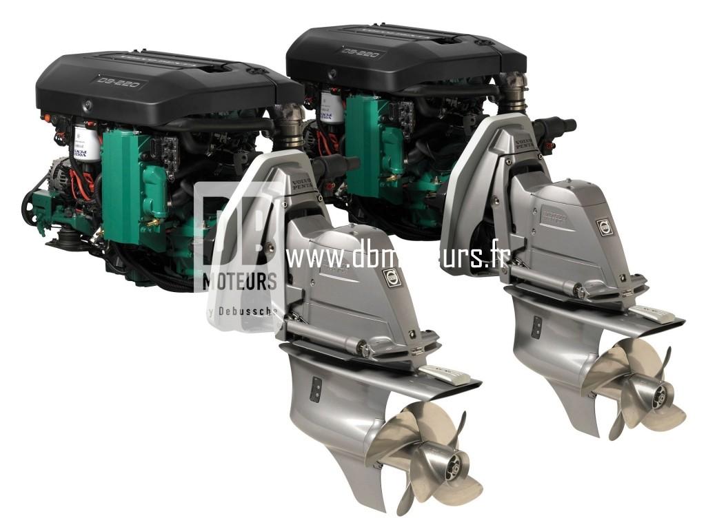moteur marin volvo penta d3-220 avec embase5