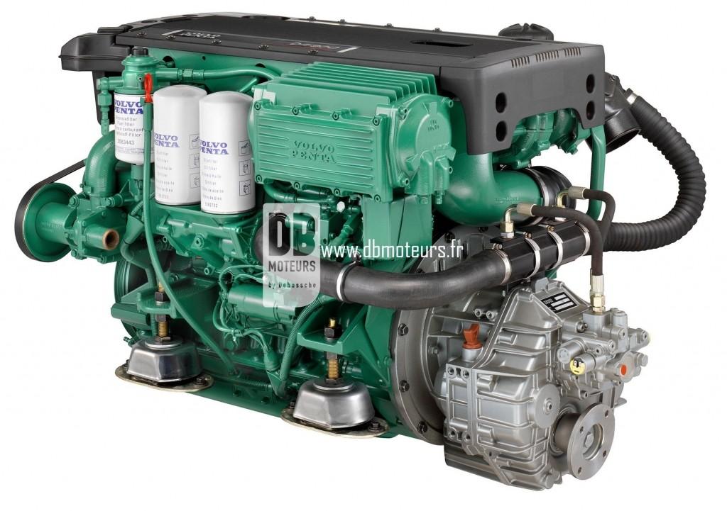 moteur marin volvo penta d4-300 avec inverseur