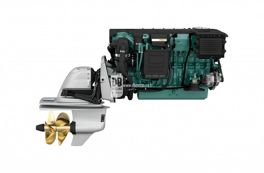 moteur marin volvo penta d6-330 avec embase7