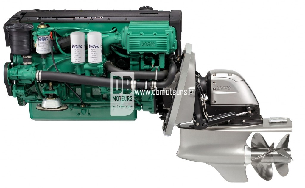 moteur marin volvo penta d6-330 avec embase5