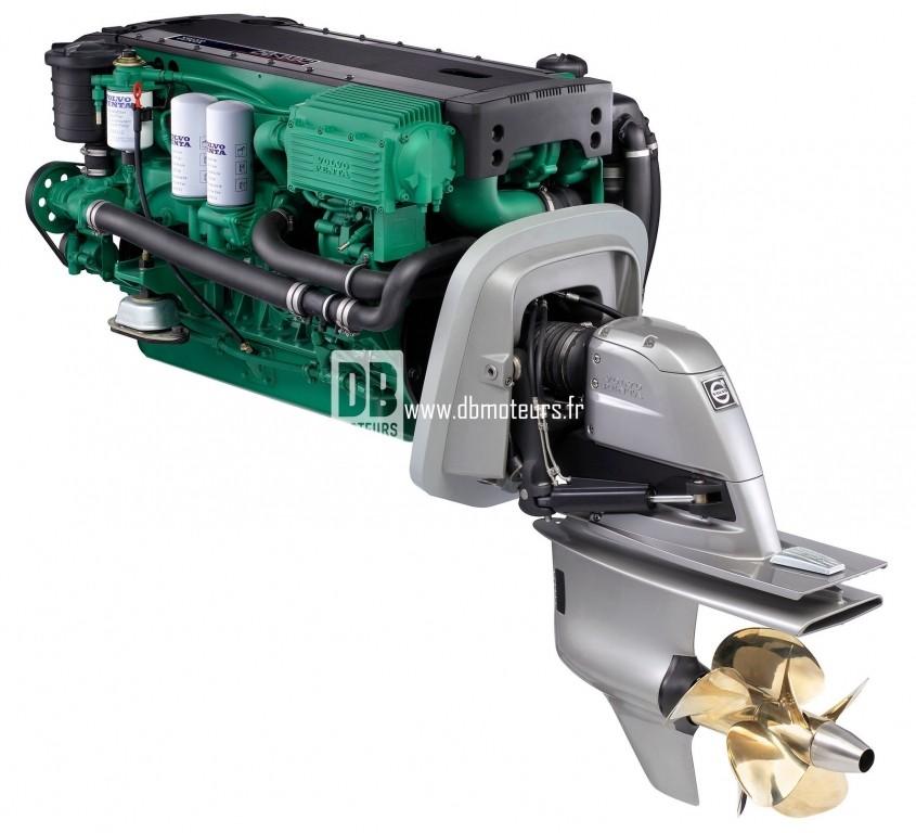 moteur marin volvo penta d6-330 avec embase6