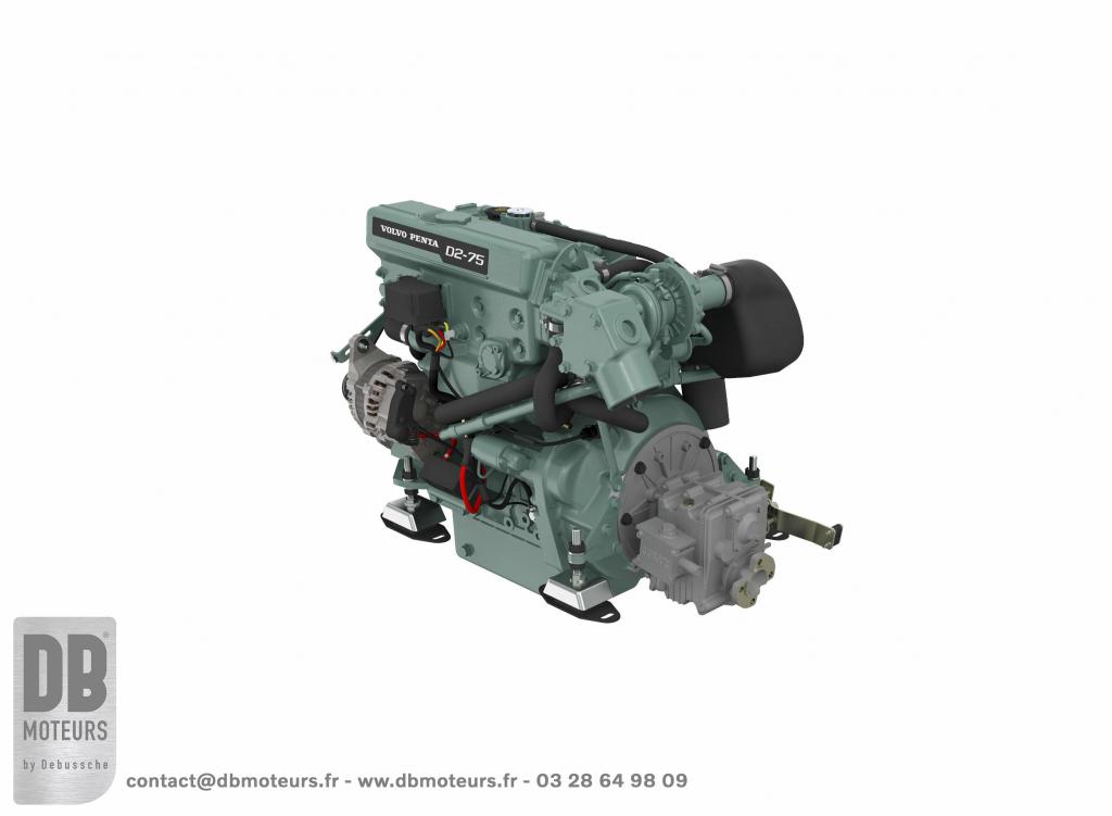 moteur-75 chevaux plaisance bateau diesel