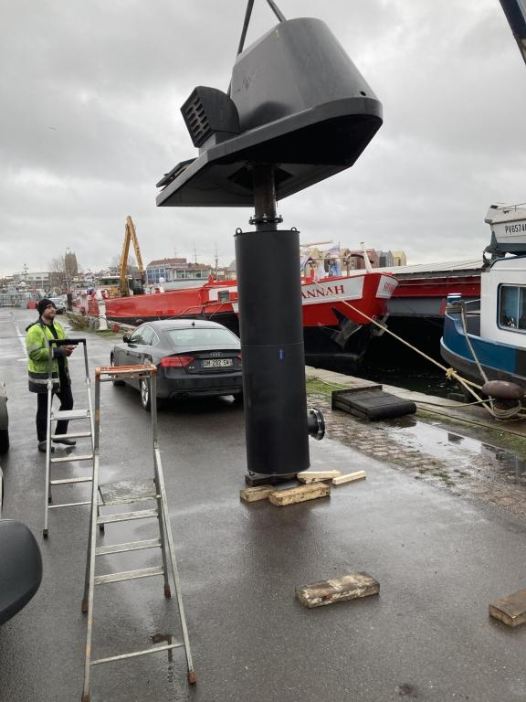 remplacement tube echappement marin