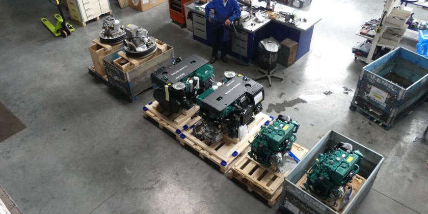 reception et preparation de moteurs volvo penta